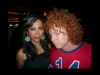 The Founder, Rowena Baraan-Krifaton with Carrot Top at a fundraising event.